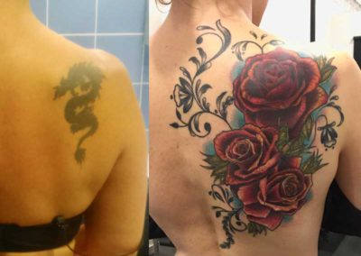 tatuaje rosas | tatuajes cover | Cornelius tattoo Madrid