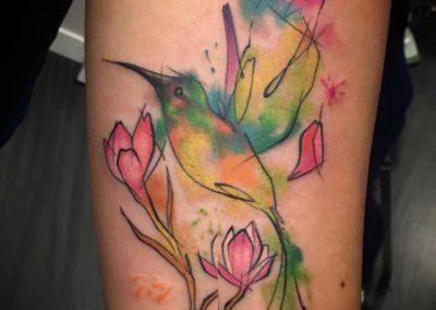 colibri tatuaje | tatuajes acuarela | tatuaje indio | tatuajes cover | tattoo