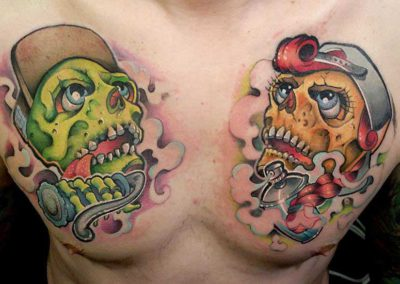 tatuaje-biceps-calaveras new school