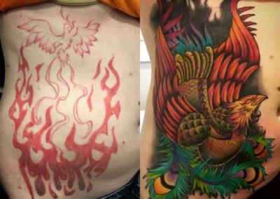 tatuaje fenix | tatuajes cover | tatuajes en madrid