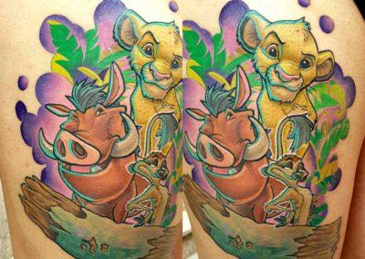 tatuaje rey leon | tatuajes disney