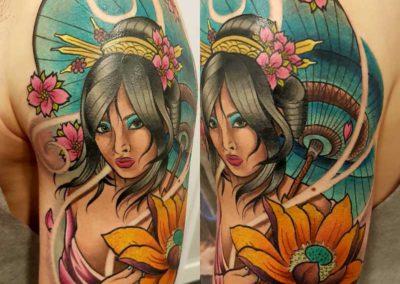 tatuaje geisha | tatuajes en madrid