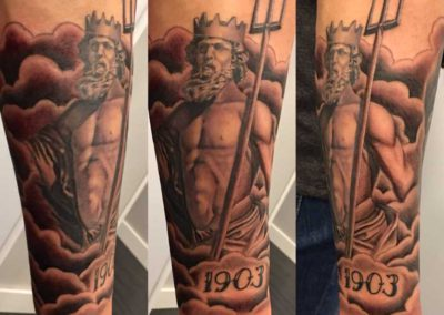 tatuaje neptuno | tatuajes mitologicos
