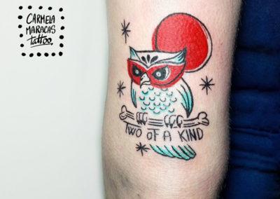 Tatuaje buho | tatuajes animales | tatuajes divertidos | tattoo