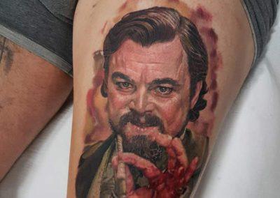 tatuaje Leonardo Dicaprio | tatuajes personajes | tatuaje madrid