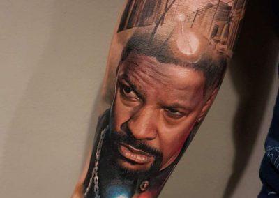 tatuajes realistas | tatuajes peliculas | Denzel Washington