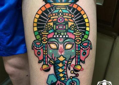 ganesha tatuaje | tatuajes a color | madrid tattoo