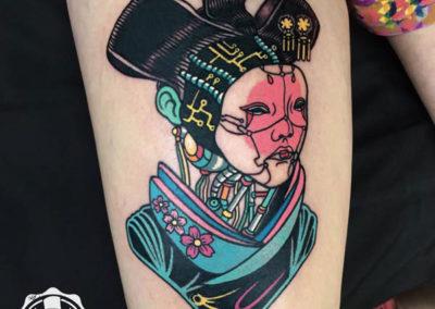 Raro82 | geisha tatuaje | tatuajes originales | madrid tattoo