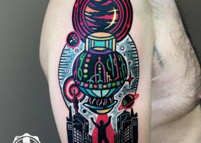 tatuaje extraterrestre | tatuajes originales | estudio de tatuajes madrid