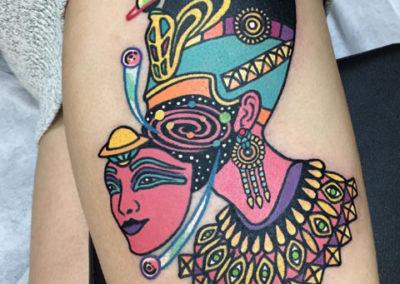 tatuaje cleopatra | tatuajes originales | estudio de tatuajes madrid