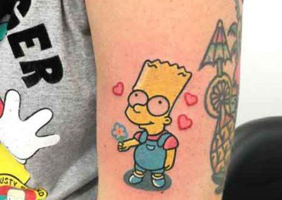 tatuaje-bart-simpson