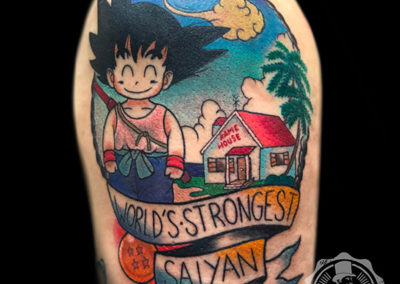 tatuajes dragon ball | tatuajes new school | Goku