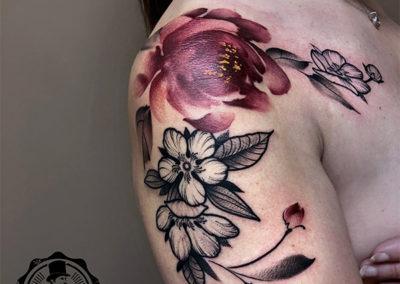 tatuaje-flores-acuarela