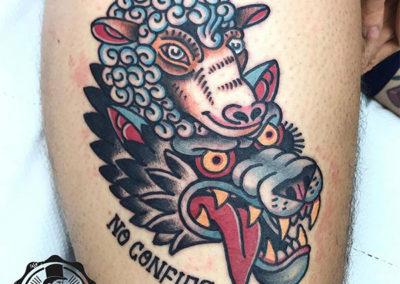 tatuaje-lobo-oldschool