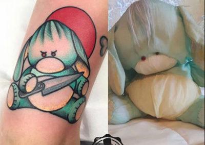 tatuaje-peluche-oldschool