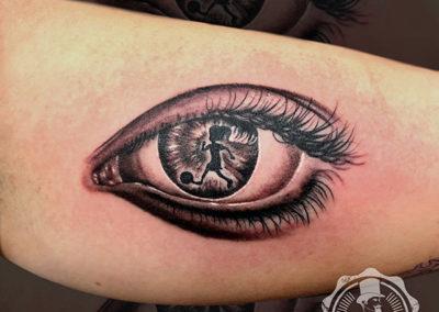 tatuajes realistas | ojo realista | tattoo
