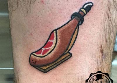 tatuaje-cartoon-jamon