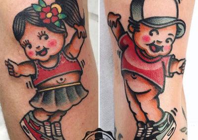 tatuaje-oldschool-pareja
