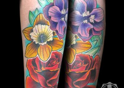 tatuajes cover | tatuajes flores | tatuajes new school