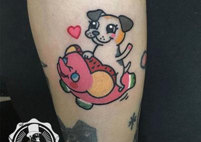 catoon tattoo | tatuajes divertidos | estudio de tatuajes madrid
