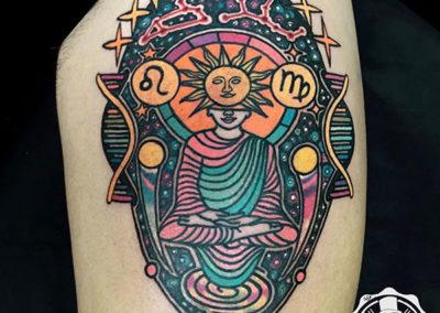 tatuaje-color-pierna