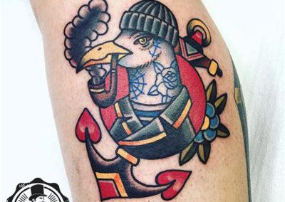 tatuaje-gaviota-oldschool