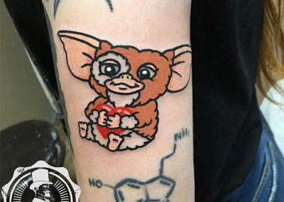 tatuajes divertidos: Gremlin tattoo