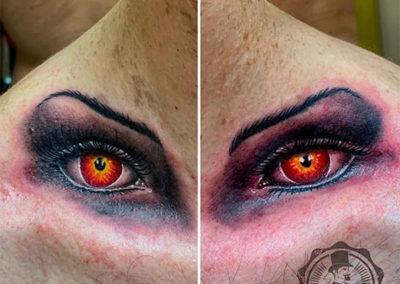 tatuajes realistas | tattoo ojos