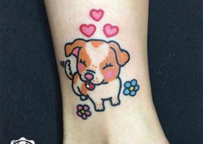 mini tattoo: tatuajes a color | tatuaje perro