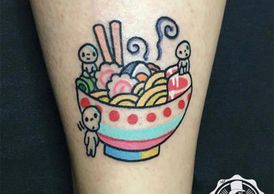 cartoon tattoo | tatuajes divertidos: tatuaje sushi