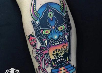 tatuajes a color | ver tatuajes: pantera rosa