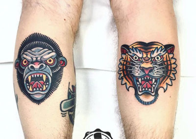 tatuajes en el gemelo | tatuajes old school