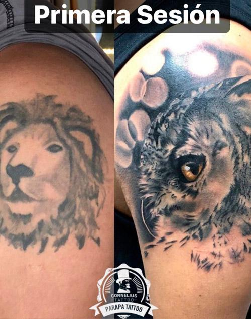 tatuajes en el hombro y tatuajes cover | estudio de tatuajes Madrid