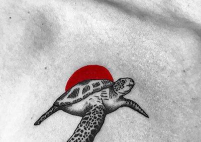 mini tatuajes: tortuga | Madrid tattoo