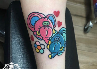 cartoon tattoo | tatuajes a color