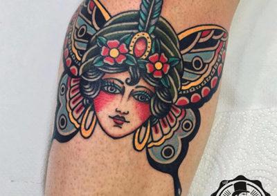 tatuajes old school mujer estudio de tatuajes madrid