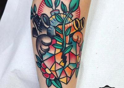 corazón tatuaje old school Cornelius tattoo