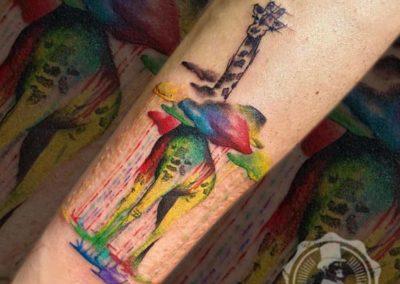 Tatuajes originales de jirafa | Diseño de tatuajes