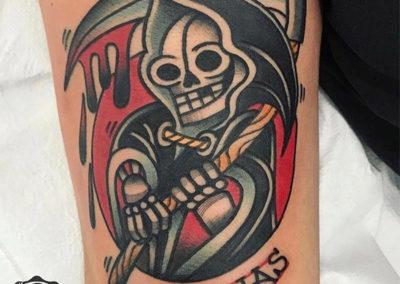 tatuaje muerte | tatuajes old school
