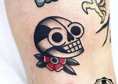 tatuajes old school | calavera