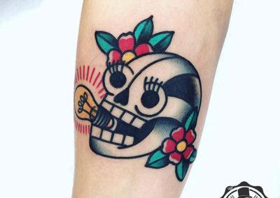 tatuaje calavera | tatuajes old school