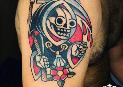 tatuaje muerte calavera | tatuajes old school