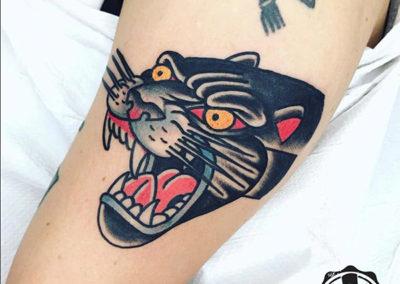 tatuaje pantera | tatuajes old school