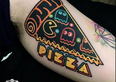 tatuajes a color | tattoo pizza