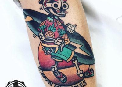 tatuajes old school | tatuaje calavera