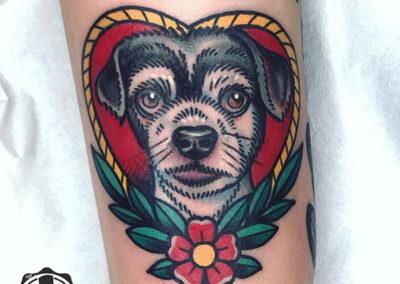 tatuaje perro y corazón | tattoo