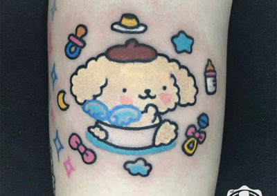 cartoon tattoo | tatuajes pequeños mujer