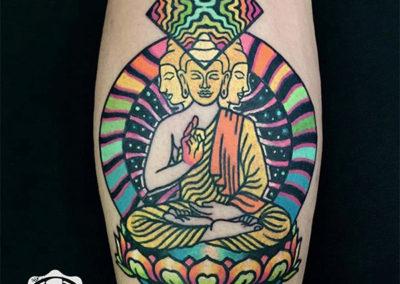 tatuajes a color | meditación