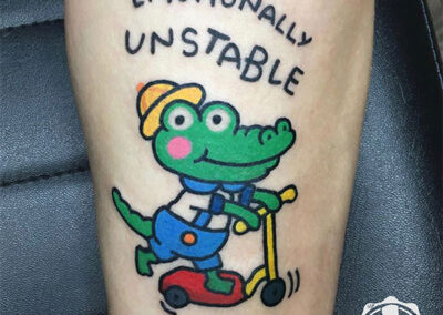 cartoon tattoo | cocodrilo