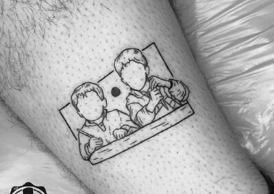 surimi | blackwork tattoo niños